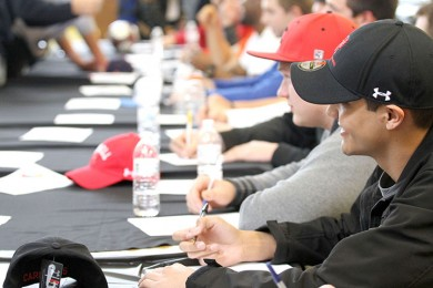 Making the Commitment: Sixteen seniors recognized on National Signing Day on Feb. 8, sign to play at college level