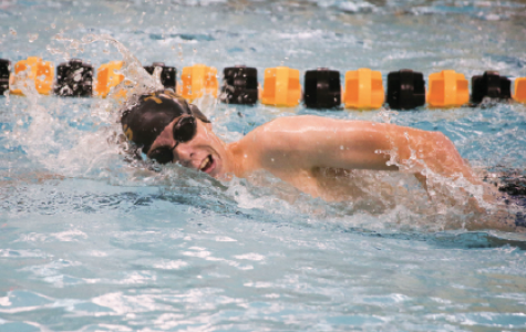 """Taking a breath, junior Ryan Richards sprints at practice. Richards competed on the State team for BV in 2016. """"I'm looking forward to hanging out with the team and seeing how well I do at State,"""" he said."""