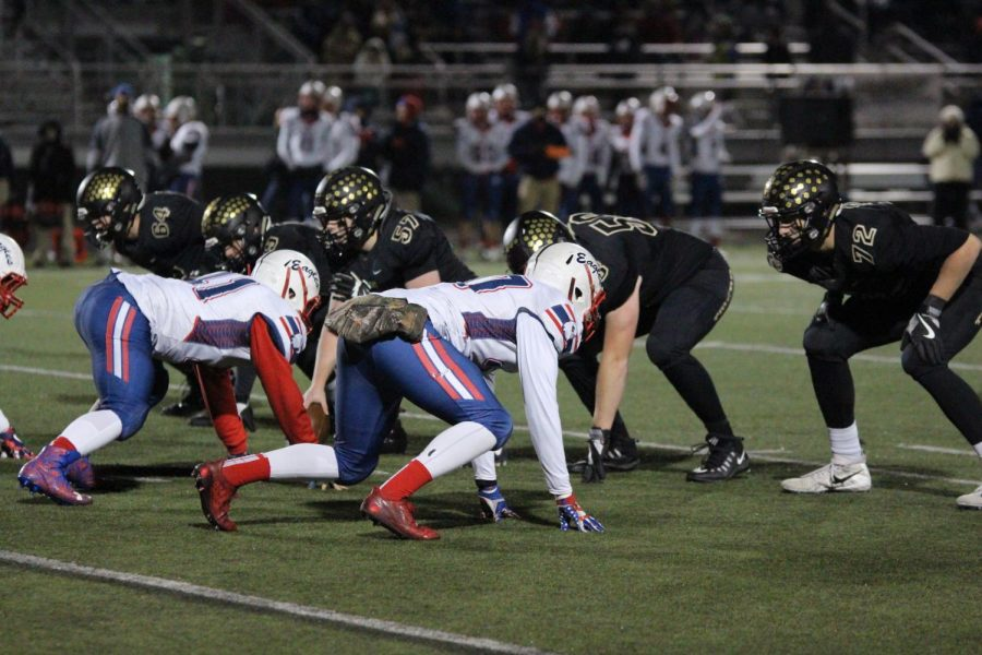 The Blue Valley Football team played Olathe North Nov. 10 for the 6A sectional title.