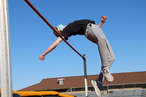 "Junior Will Creamer has been high jumping since middle school and quickly found a love for the event after competting. ""My favorite part is tje rush i get while jumping in a meet,"" Creamer said. ""Knowing all my competitors are watching and waiting for the bar to drop."""